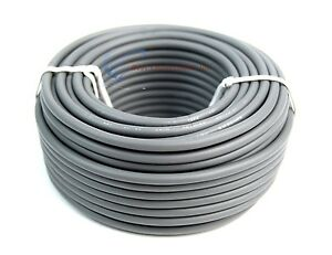 12 Gauge 50 Feet Audiopipe Gray Primary Remote Wire Car Auto Power Cable RV Boat