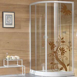 wall stickers adesivo adesivi fiori vetri box doccia decorazione bagno a0134