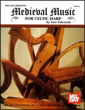 Medieval Music for Celtic Harp Sheet Music Book 21 Tunes 12th to 15th Century