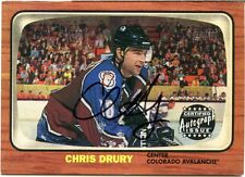 2002-03 Topps Heritage Chris Drury Certified Autograph Issue Colorado Avalanche