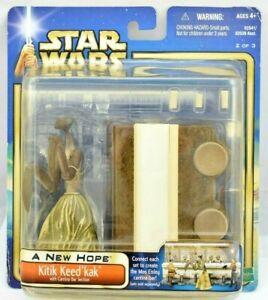 Star Wars SAGA 2002 Kitik Keed'kak (Cantina Bar Section) RARE FIGURE MOC