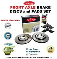 Front Axle BRAKE DISCS + brake PADS for BMW 5 Gran Turismo (F07) 535d 2012-2017