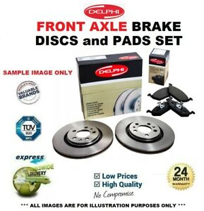 Front Axle BRAKE DISCS + brake PADS SET for AUDI A8 3.0 TDI quattro 2003-2010