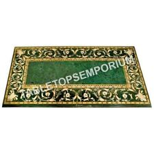 4'x2' Green Marble Dining Center Table Marquetry Inlay Living Room Decor E588