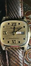 Mens Marcel & Cie Swiss Made Yellow-Gold 1960s? Day Date wrist watch.
