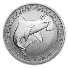2015 1/2 oz Australia Silver Hammerhead Shark Coin