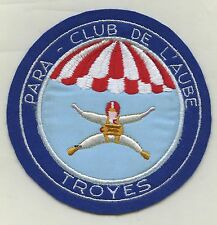 patch , Para - Club de l'AUBE /  TROYES  , ( Ø 129mm. )