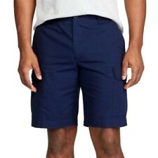 Chaps Men's Classic Fit Cargo Shorts Short Pants 44 B Big Navy Blue Ripstop Snap