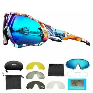 NEW 2021 Gafas de sol de bicicleta con 5 Lentes, fotocromáticas Ciclismo UV400