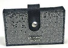 New Victoria's Secret Rhinestone Sparkle Accordion Card Case Black Bling Sparkle