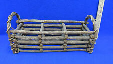 Stick Vine Plant Holder 3 Compartments Handles Wooden Handcrafted Flowers Herbs
