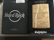 ZIPPO BRASS HARD ROCK CAFE HOLLYWOOD