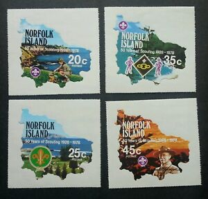 Norfolk Island 50 Years Of Scout 1978 Scouting (stamp) MNH *odd shape *unusual