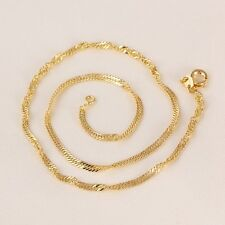"""9ct 9K Yellow """"Gold Filled"""" Baby Girl Children NECKLACE CHAIN. L=13.78"""" ,Gift"""