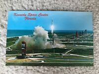 Kennedy Space Center Florida Vintage Postcard 1960s-1970s Rocket Launch Forida