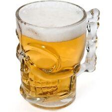 Skull Crâne 3D Stein Forme 1 Pint Verre Bière Boissons fantaisie fun accessoire