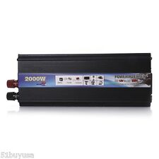 Car Power Inverter 2000W Power DC12V to AC 220V-240V Converter USB Port Tools
