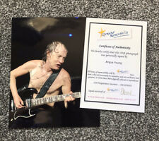 More details for ac/dc angus young signed photograph - autograph
