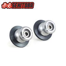 Sekitoba CNC Swingarm Spools Sliders Paddock Stand Bobbins 8mm Silver