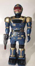 Vintage Talk N Walk Robot Figure Blue Gold 1992 Radio Shack Plastic For Parts