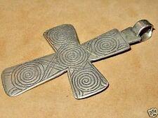 RARE Antique Ethiopian Coptic Christian Metal Cross Pendant Ethiopia, Africa