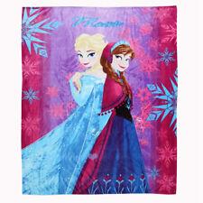 Soft Warm Plush Flannel Bedding Sleep Blanket Flat Queen 150X200 Frozen Sister