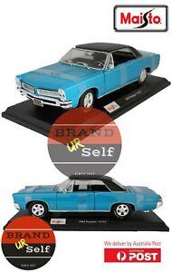 MAISTO 1965 PONTIAC GTO Racing Green 1:18 Diecast Model car AU Seller / AU stock