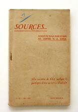 Sources n°22 - 1943 - Chantiers de la Jeunesse - Jeunes paysans de l'Orne - rare