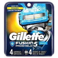 Gillette Fusion 5 ProShield CHILL Razor Blade Refills 4pk  SEALED FREE SHIP NEW