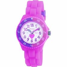 GIRLS PINK TIME TEACHER WATCH-TIKKERS HEART/ WHITE DIAL/ SILICONE STRAPS SCHOOL