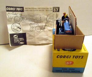 Corgi Toys 67 Ford 5000 Super Major Tractor,   original