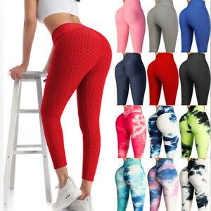 Women Anti-Cellulite Yoga Pants High Waist Push Up Leggings Elastic Gym Shapers
