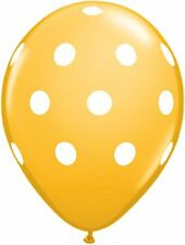 "10 pc - 11"" Qualatex Big Polka Dot Goldenrod Latex Balloon Party Decoration Dots"