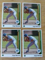EDGAR MARTINEZ ROOKIE UPPER DECK 1989 UPDATE RC BASEBALL CARD lot of 4 mint #768