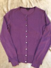 Ann Taylor Women's Long Sleeves Button Front Cardigan size S Purple