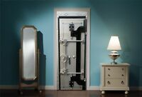 Door Mural Bank Vault Safe View Wall Stickers Decal Wallpaper 251