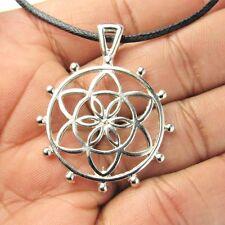 Flower Of Life Meditation Pendants Necklace Round Meditation Charm Choker