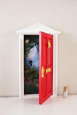 Opening red elf fairy door wooden miniature tooth fairy
