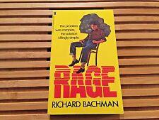 RAGE, Richard Bachman (Stephen King), **True 1st Edition**, U.K.