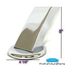 "ProFurnitureParts 5"" Angled Polished Chrome Heavy Duty Sofa Legs Set of 4"