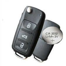 Fits VW Polo GOLF MK6 Up!Transporter 3 Button Remote Key FOB case + BATTERY