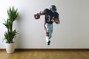 Walter Payton Chicago Bears Fathead Style Wall Decal Sticker