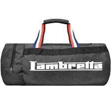 Lambretta Mens Barrel Casual Travel Sports Gym Holdall Duffel Bag - Grey/Black