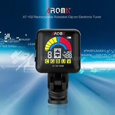 Aroma At-102 Rechargeable Clip-on Tuner for Bass Guitar Ukulele Violin V4B7