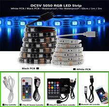 5V USB LED tira 5050 RGB Iluminación de fondo de TV 30 Leds/m con controlador de música