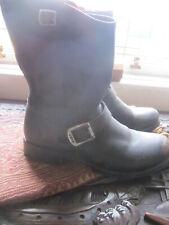 Frye Black Leather Engineer Boots UK8 Eu41.5 US10 B fitting