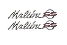 """USA-Made! 1964 Chevelle Rear Quarter Emblem """"Malibu SS"""" NEW Trim Parts!"""