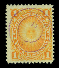 PERU 1884 PROVISIONAL ISSUES Pacific War - PUNO - 1c orange Sc# 15N5 mint MH