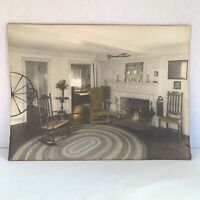 David Davidson Large Hand Colored Tinted Photo HER HOUSE IN ORDER Antique 1920s
