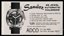 1966 Sandoz diving diver watch photo vintage print ad